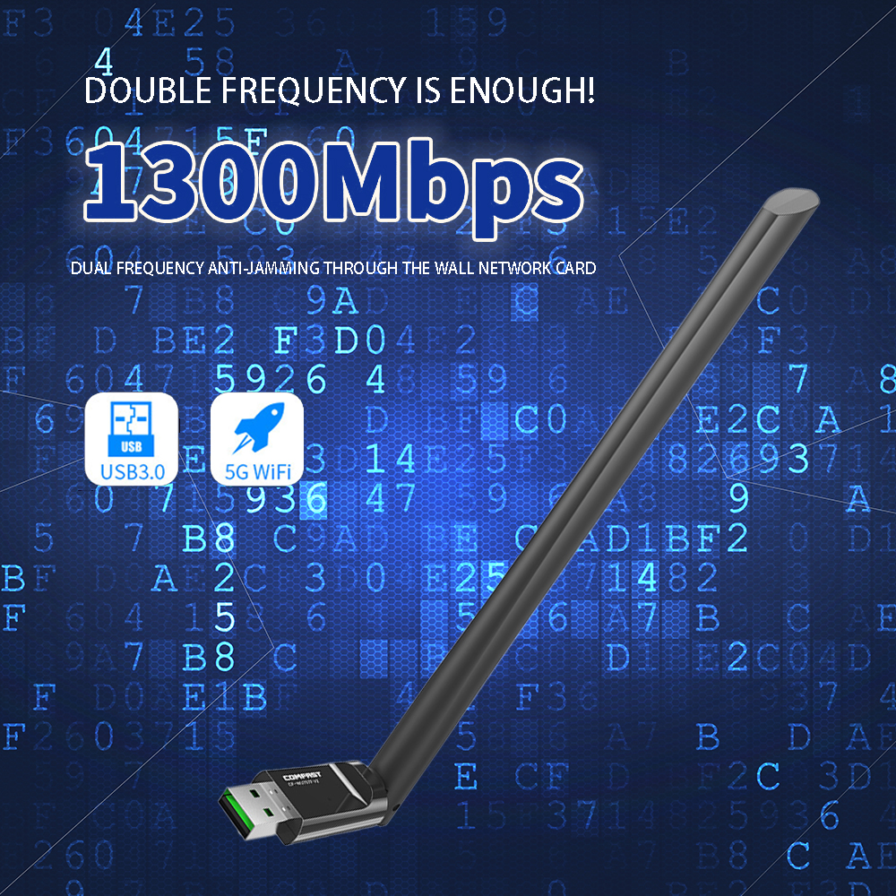OnMars Bộ Chuyển Đổi Wifi USB 2.4G, Nhận Card Mạng Bền Máy Tính Để Bàn Máy Tính Xách Tay PC Wifi Adapter Wi-Fi Receiver Bộ Thu Card Mạng Máy Tính Xách Tay Để Bàn 150Mbps thumbnail